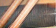 The pipes ribbed monometallic (copper)