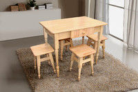 Set kitchen table + 4 stools