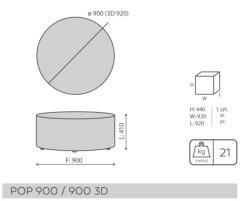 Столик журнальный прямоугольный 110х60 см (Польша)