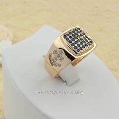 Позолоченное кольцо Код: 002-1271