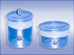 Glass for weighing of CH and CB
