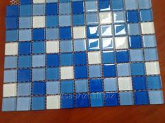 Мозаика стеклянная Багама темная Сristall