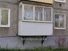 Балкон пристройка, расширение, укрепление,  ремонт