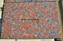 The tile polished from a natural stone