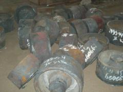 Поковки типа цилиндров массой до 3000 кг