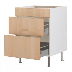 FAKTUM the Floor case with 3 boxes, Neksus a birch