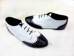 """Туфли """"Gino Figini"""" бело-черные"""