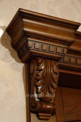 Wooden door from the massif, Kiev