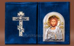 Skladen velvet Silver 925 ° gilding Savior