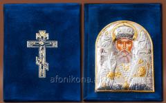 Skladen velvet Silver 925 ° gilding Saint Nicholas