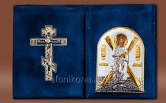 Skladen velvet Silver 925 ° gilding St Andrew