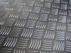 Лист алюминиевый рифленый 2мм АД0 (1050Н24)  квинтет