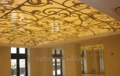 Матирование по окрашенной поверхности стекла и