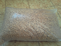 Pellets made from pine and spruce sawdust