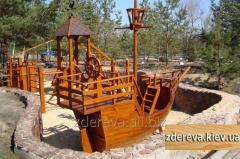 Детская площадка из дерева Корабль 10128