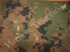 Ткань камуфлированная  оксфорд 600d пу марпат