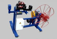 The machine for rewind of a cable and a steel rope