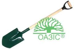Shovel metal for redigging of the earth with a