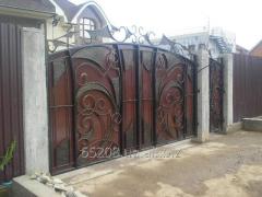 Ворота кованые для дома