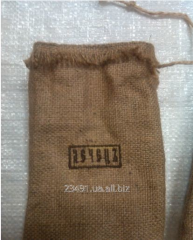 The bag is jute decorative