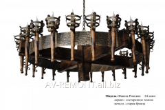 "Chandelier wooden ""The Roman"