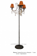 "Floor lamp the metal, forged ""Brushes"