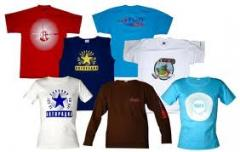 T-shirts with corporate logos