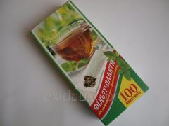 The filter packages for a zavarivaniye of tea of