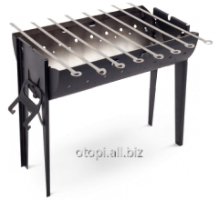 Brazier of marching 8 skewers, brazier suitcase