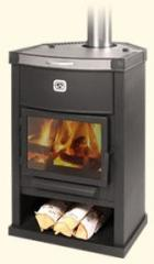 Fireplace heating and cooking Teplodar OV-120 (angular), production Teplodar-Novosibirsk