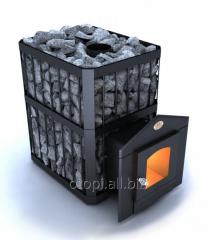 Печь на дровах для бани  Пруток  ПКС - 02 Дверца с термостойким стеклом