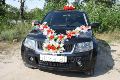 Wedding - decoration of the car - a wave of