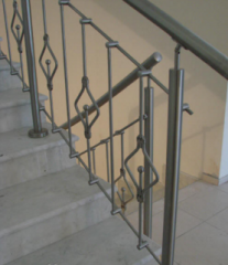 Handrail assembly of stainless steel