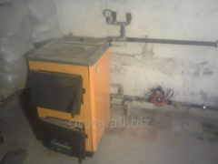 Твердотопливный котел с плитой Огонек КОТВ-16П