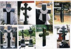 Granite crosses under the order