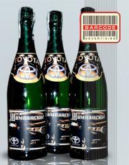 Champagne with a logo, souvenir champagne, Kiev
