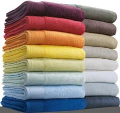 Towel with a logo, advertizing production to