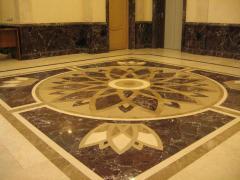 Marble mosaic and mosaic panel