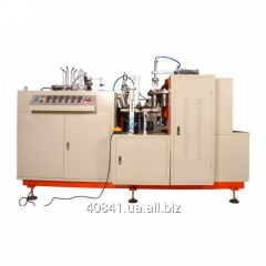 The car for production of paper glasses from a