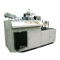 The car for production of paper glasses with a