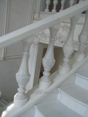 Rail-posts from marble. Marble rail-posts.