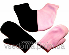 Варежки для влюбленных Черно-розовые