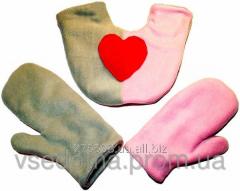 Варежки для влюбленных Серо-розовые