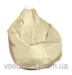 Бежевое кресло-мешок груша 100*75 см из ткани