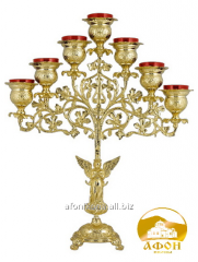 Icon lamp gilding, desktop with enamel