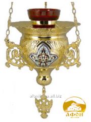 Icon lamp with enamel utvar0276 overgilding