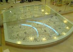 Glass podium