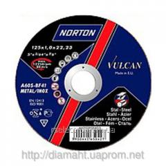 Круг абразивный отрезной 115 x 2.0 x 22.23 NORTON VULCAN отрезка