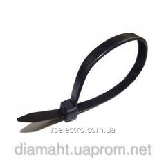 Кабельная стяжка 4x300, UNIFIX nylon cable tie чёрная и белая (хомут) (100шт.)