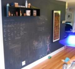 Меловое покрытие стен/мебели.